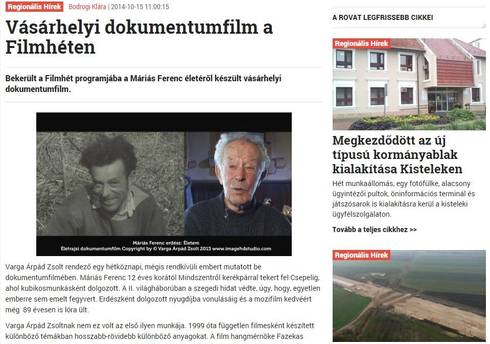 Promenád cikke a Filmhétről