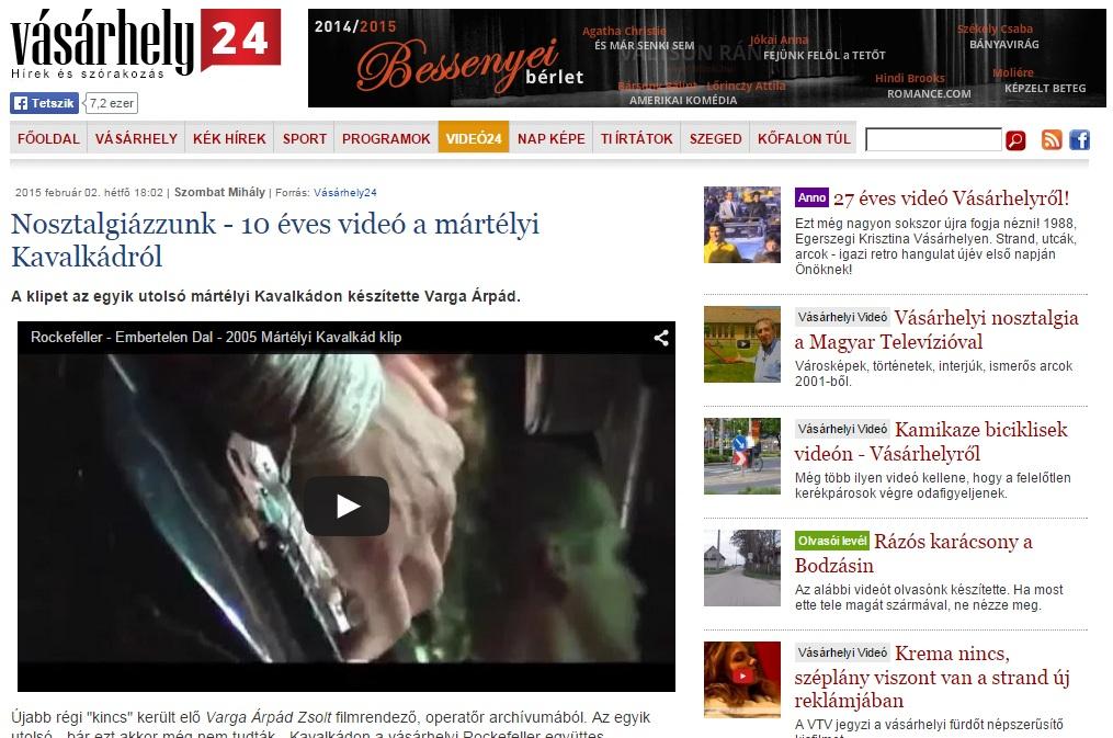 Mártélyi Kavalkád 2005 Rockefeller klip