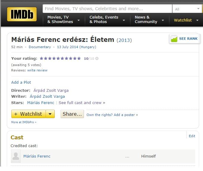 IMDB adatlap