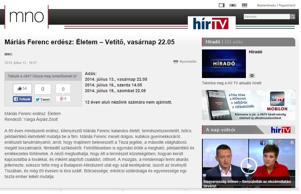 HírTV Programban